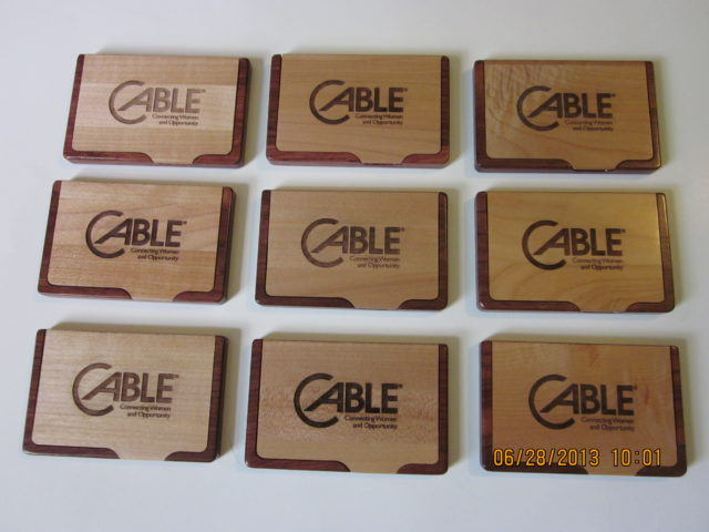 Maple and Rosewood Business Card Holders