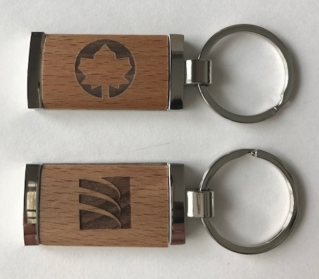 Metal/wood key rings